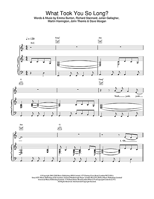 Emma Bunton What Took You So Long? sheet music notes and chords. Download Printable PDF.