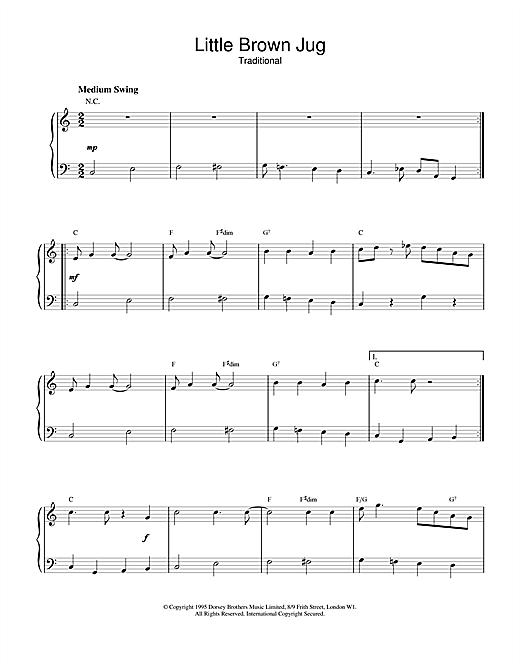 Duke Ellington Little Brown Jug sheet music notes and chords. Download Printable PDF.