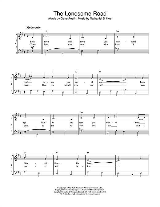 Nat King Cole The Lonesome Road sheet music notes and chords. Download Printable PDF.