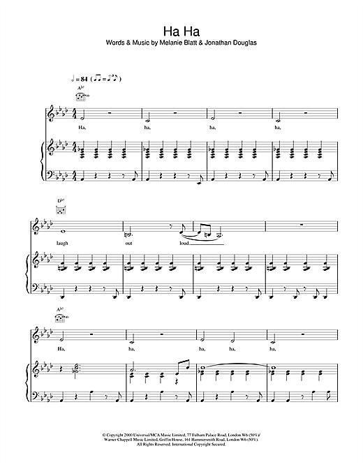 All Saints Ha Ha sheet music notes and chords. Download Printable PDF.