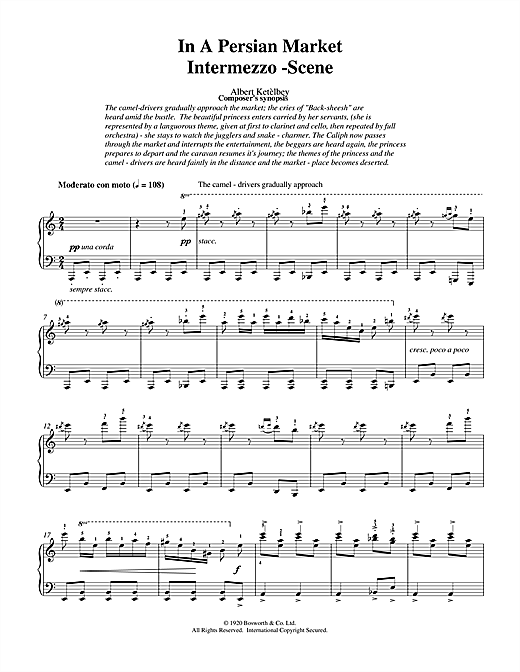 Albert  Ketèlbey In A Persian Market sheet music notes and chords. Download Printable PDF.