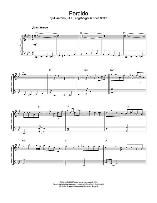 Juan Tizol Perdido sheet music notes and chords. Download Printable PDF.