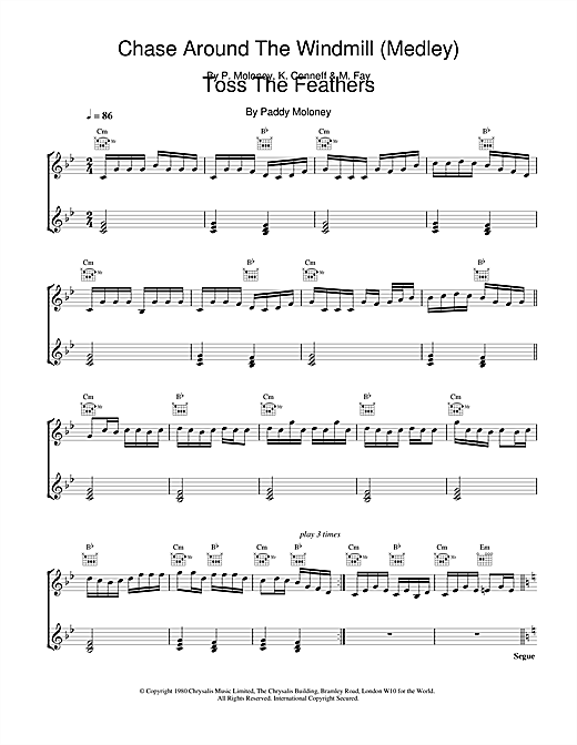 The Chieftains Chase Around The Windmill (Medley);Toss The Feathers sheet music notes and chords. Download Printable PDF.