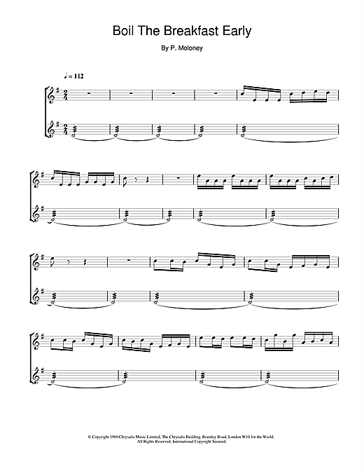 The Chieftains Boil The Breakfast Early sheet music notes and chords. Download Printable PDF.