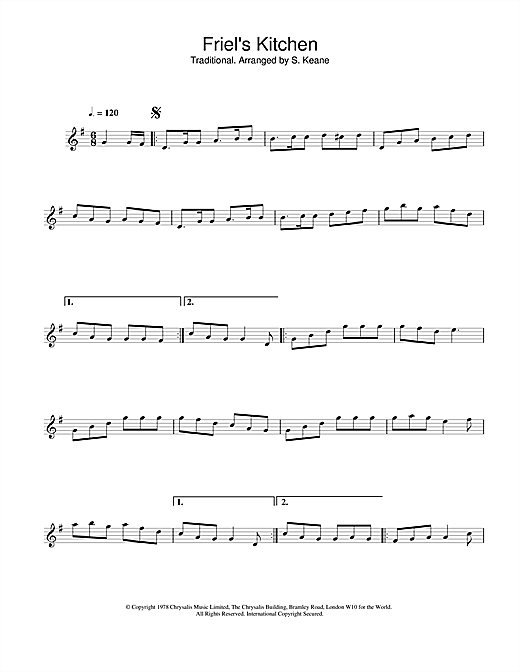 The Chieftains Friel's Kitchen sheet music notes and chords. Download Printable PDF.