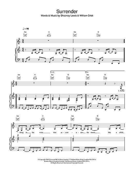 All Saints Surrender sheet music notes and chords. Download Printable PDF.
