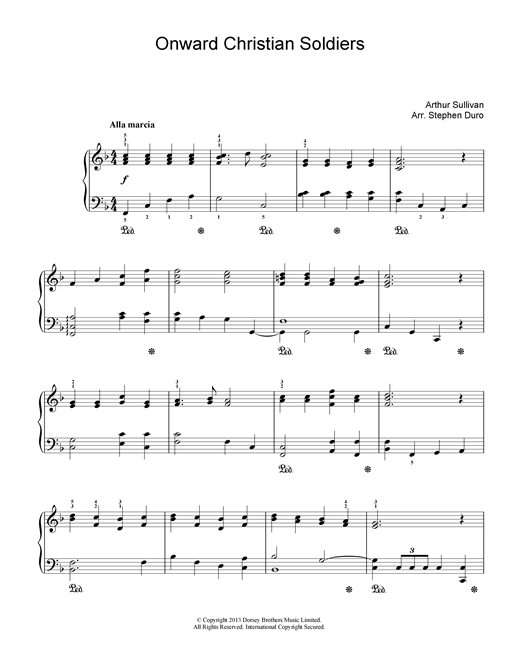 Arthur Seymour Sullivan Onward Christian Soldiers sheet music notes and chords. Download Printable PDF.