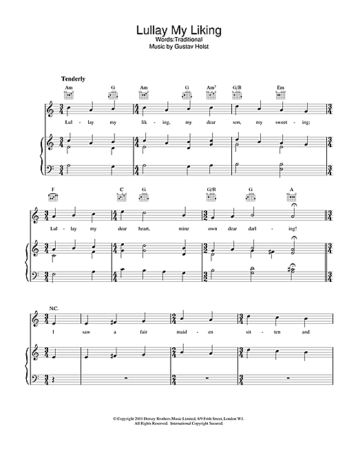 Traditional Lullay My Liking sheet music notes and chords. Download Printable PDF.
