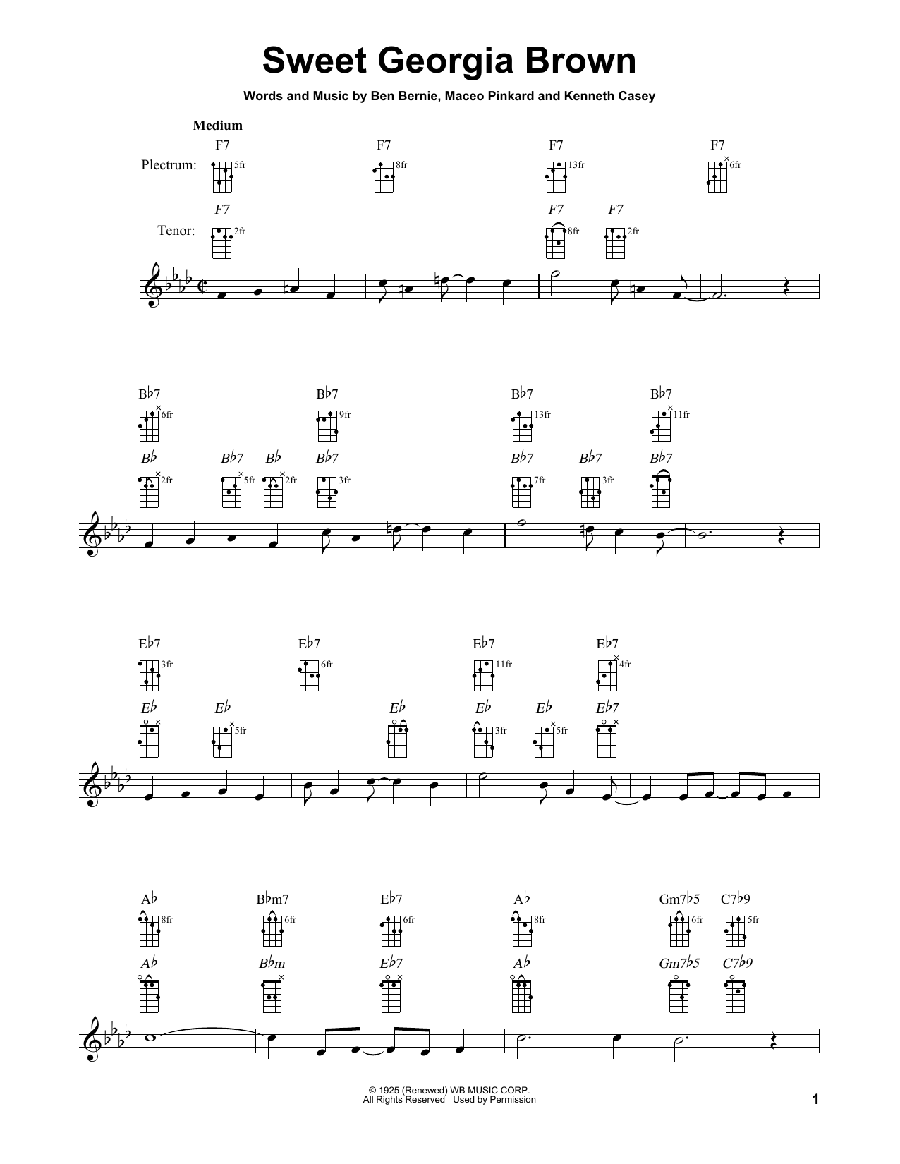 Count Basie Sweet Georgia Brown sheet music notes and chords. Download Printable PDF.