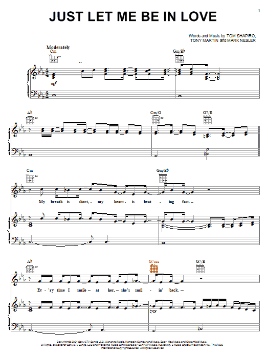 Tracy Byrd Just Let Me Be In Love sheet music notes and chords. Download Printable PDF.