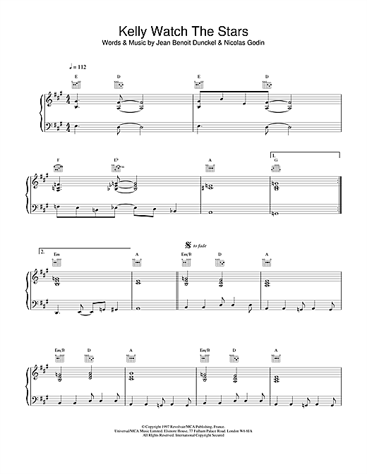 Air Kelly Watch The Stars sheet music notes and chords. Download Printable PDF.