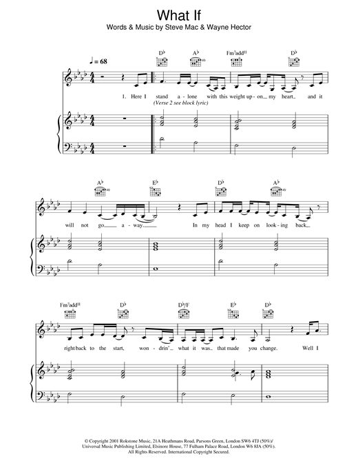 Kate Winslet What If sheet music notes and chords. Download Printable PDF.
