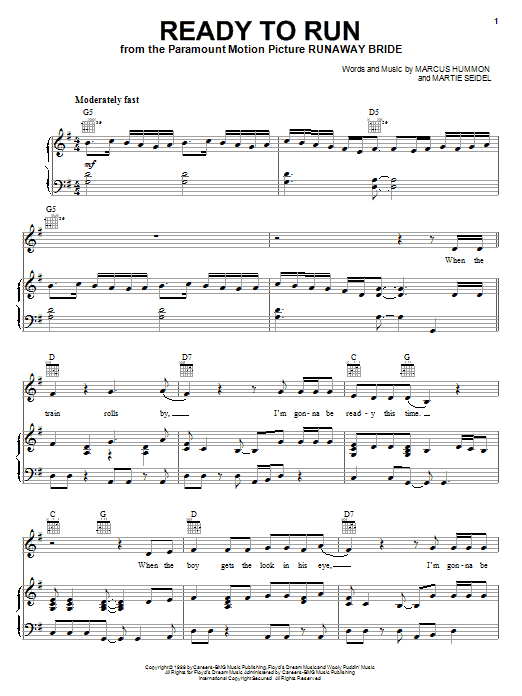 Dixie Chicks Ready To Run sheet music notes and chords. Download Printable PDF.