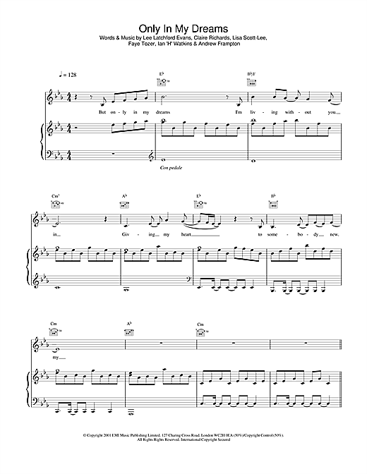 Steps Only In My Dreams sheet music notes and chords. Download Printable PDF.