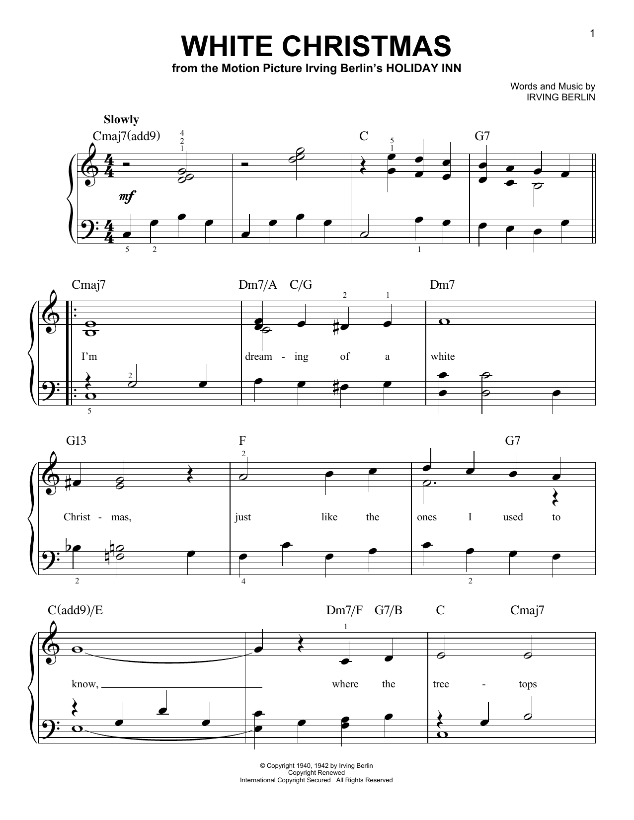 Michael Buble White Christmas.Michael Buble White Christmas Sheet Music Notes Chords Download Printable Easy Piano Sku 191774
