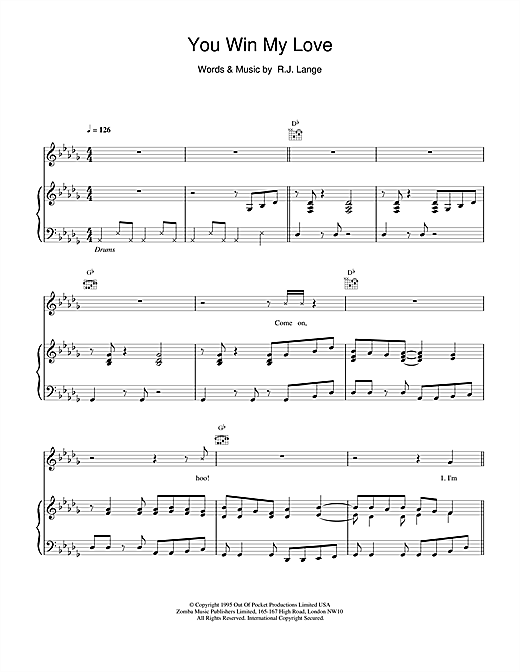 Shania Twain You Win My Love sheet music notes and chords. Download Printable PDF.