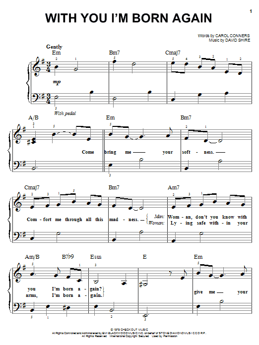 Billy Preston With You I'm Born Again sheet music notes and chords. Download Printable PDF.