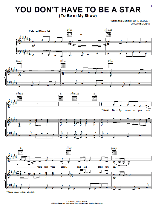 Marilyn McCoo & Billy Davis, Jr. You Don't Have To Be A Star (To Be In My Show) sheet music notes and chords. Download Printable PDF.
