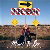 Download or print Bebe Rexha Meant To Be (feat. Florida Georgia Line) Sheet Music Printable PDF -page score for Pop / arranged Piano, Vocal & Guitar (Right-Hand Melody) SKU: 197099.