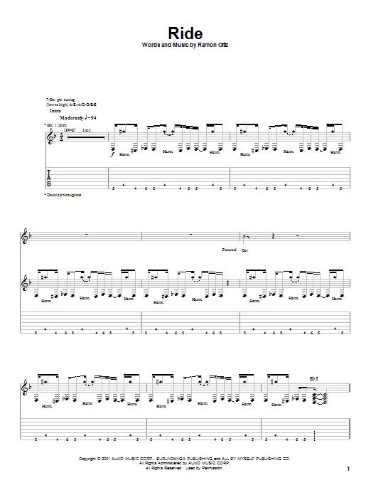 Puya Ride sheet music notes and chords. Download Printable PDF.