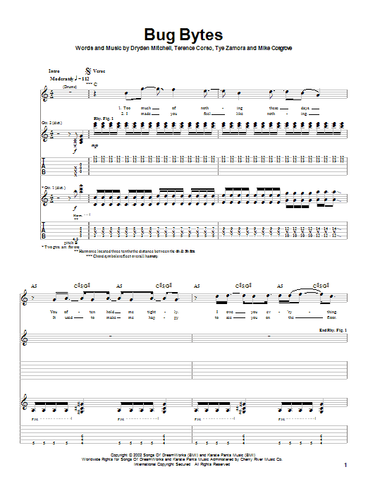 Alien Ant Farm Bug Bytes sheet music notes and chords. Download Printable PDF.