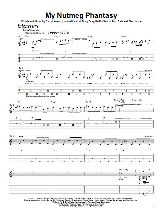 Macy Gray My Nutmeg Phantasy sheet music notes and chords. Download Printable PDF.