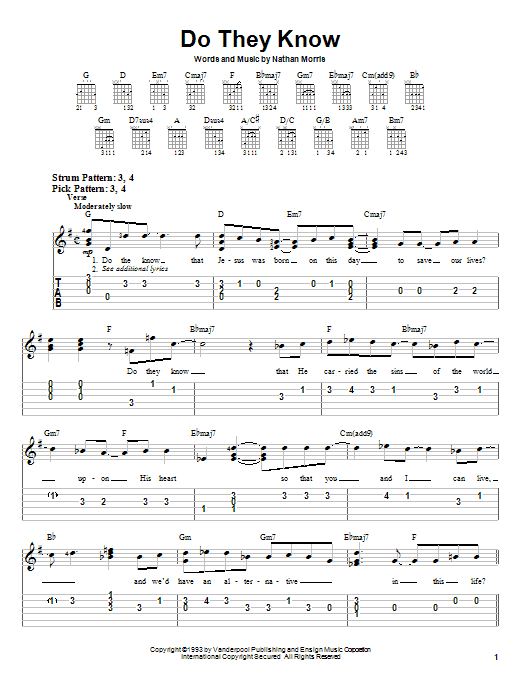 Boyz II Men Do They Know sheet music notes and chords. Download Printable PDF.