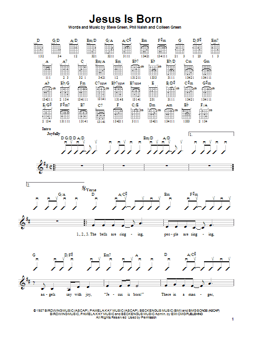 Steve Green Jesus Is Born sheet music notes and chords. Download Printable PDF.