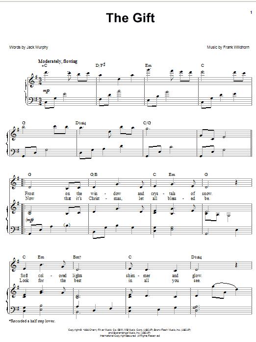 Linda Eder The Gift sheet music notes and chords. Download Printable PDF.