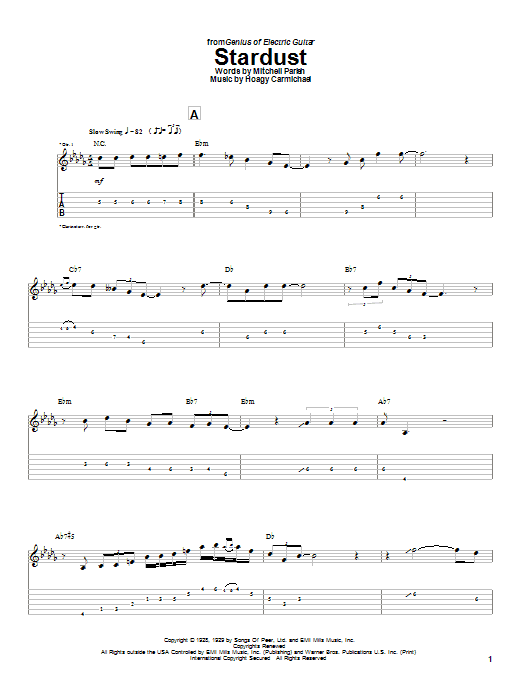 Charlie Christian Stardust sheet music notes and chords. Download Printable PDF.