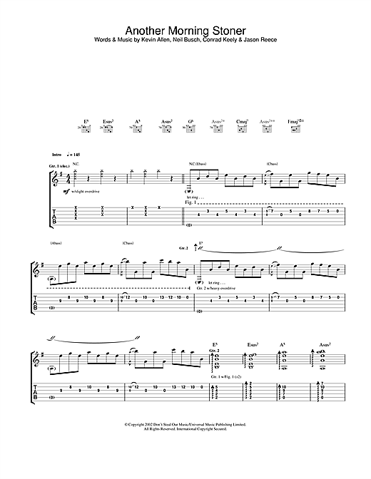 And You Will Know Us By The Trail Of Dead Another Morning Stoner sheet music notes and chords. Download Printable PDF.