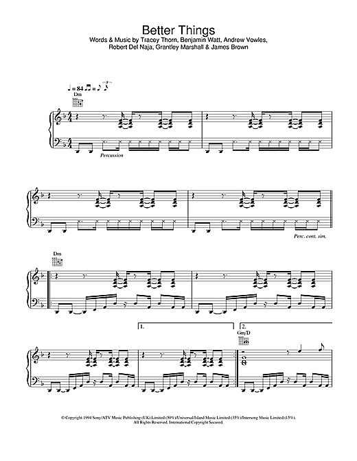 Massive Attack Better Things sheet music notes and chords. Download Printable PDF.
