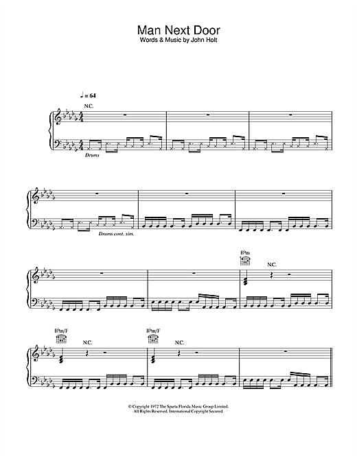 Massive Attack Man Next Door sheet music notes and chords. Download Printable PDF.