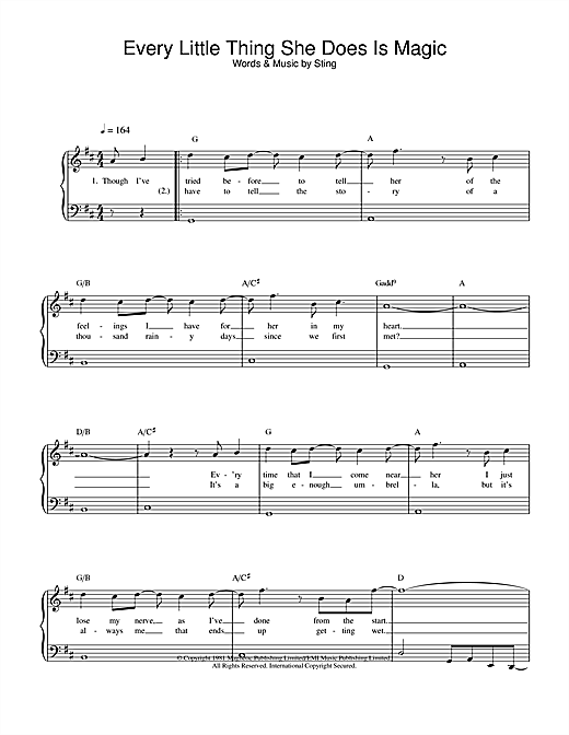 The Police Every Little Thing She Does Is Magic sheet music notes and chords. Download Printable PDF.