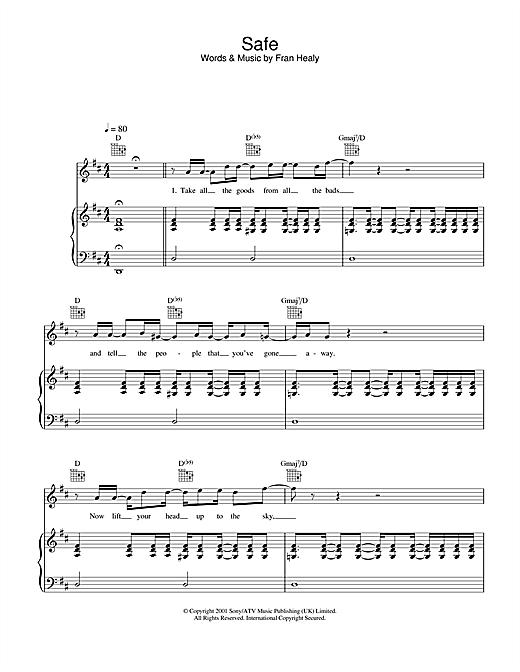 Travis Safe sheet music notes and chords. Download Printable PDF.