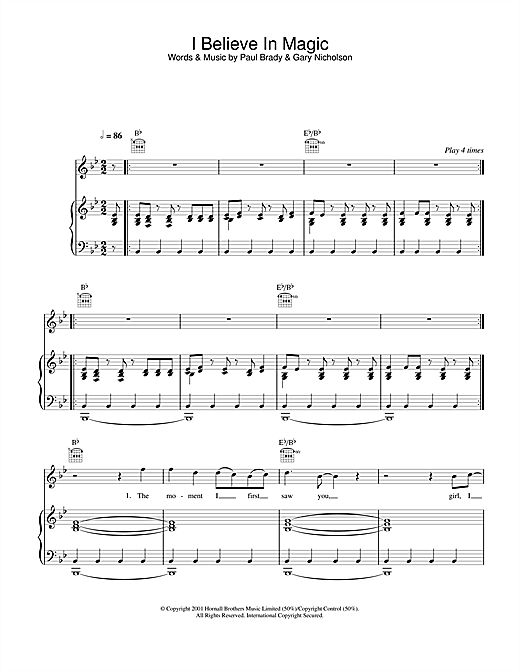 Paul Brady I Believe In Magic sheet music notes and chords. Download Printable PDF.