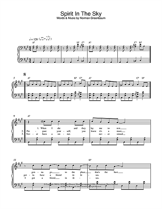 Gareth Gates Spirit In The Sky sheet music notes and chords. Download Printable PDF.