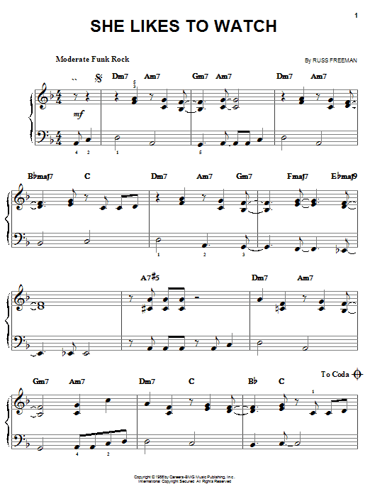 The Rippingtons She Likes To Watch sheet music notes and chords. Download Printable PDF.