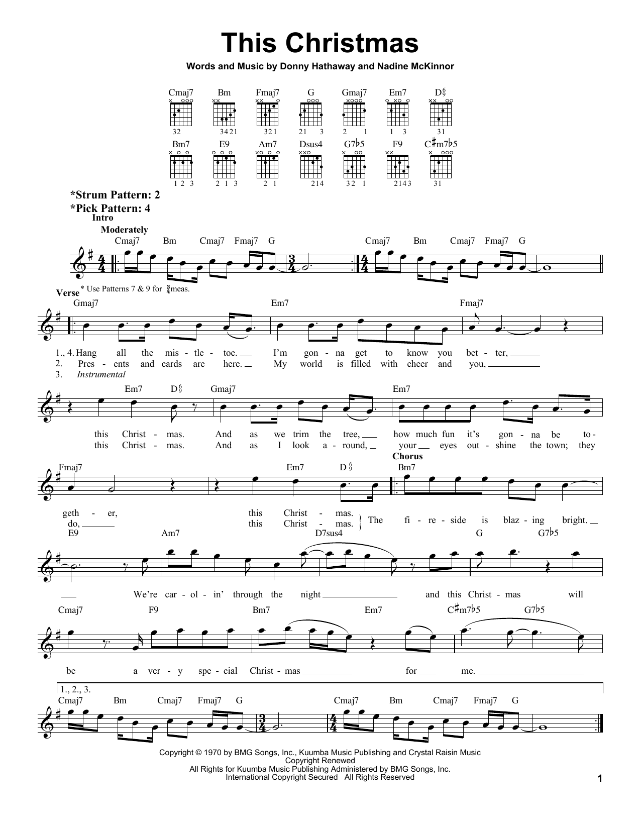 Donny Hathaway This Christmas sheet music notes and chords. Download Printable PDF.