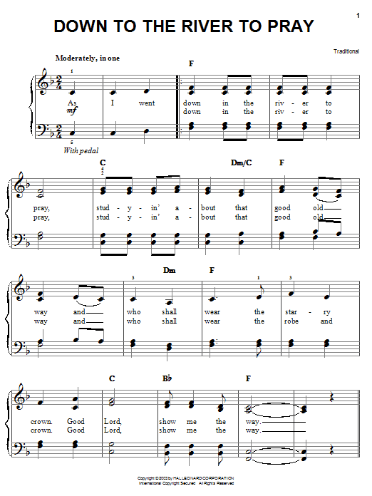 Alison Krauss Down To The River To Pray sheet music notes and chords. Download Printable PDF.