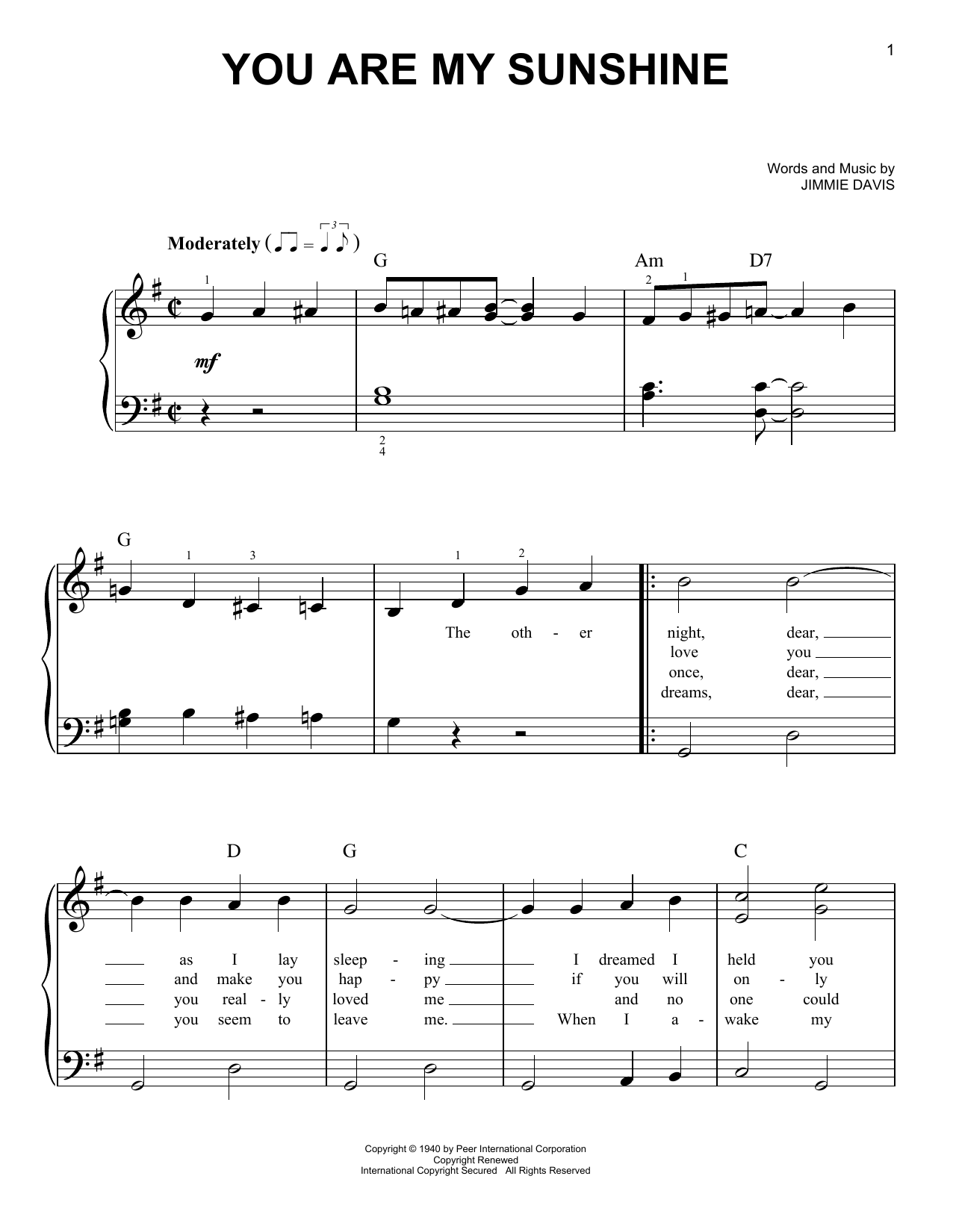Norman Blake You Are My Sunshine sheet music notes and chords. Download Printable PDF.