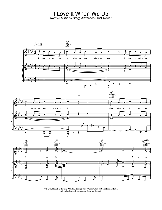Ronan Keating I Love It When We Do sheet music notes and chords. Download Printable PDF.