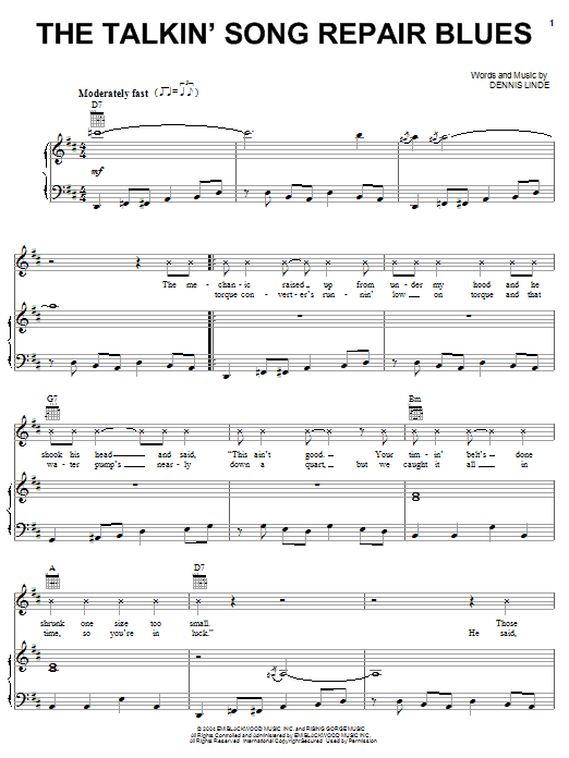 Alan Jackson The Talkin' Song Repair Blues sheet music notes and chords. Download Printable PDF.