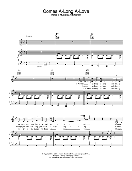 Kay Starr Comes A-Long A-Love sheet music notes and chords. Download Printable PDF.
