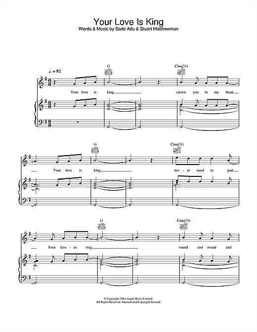Will Young Your Love Is King sheet music notes and chords. Download Printable PDF.