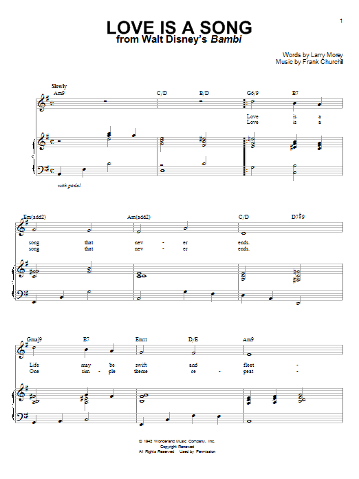 Donald Novis Love Is A Song sheet music notes and chords. Download Printable PDF.