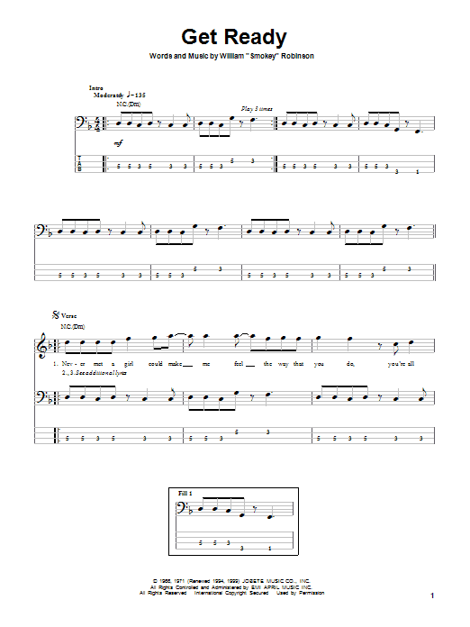 Rare Earth Get Ready sheet music notes and chords. Download Printable PDF.