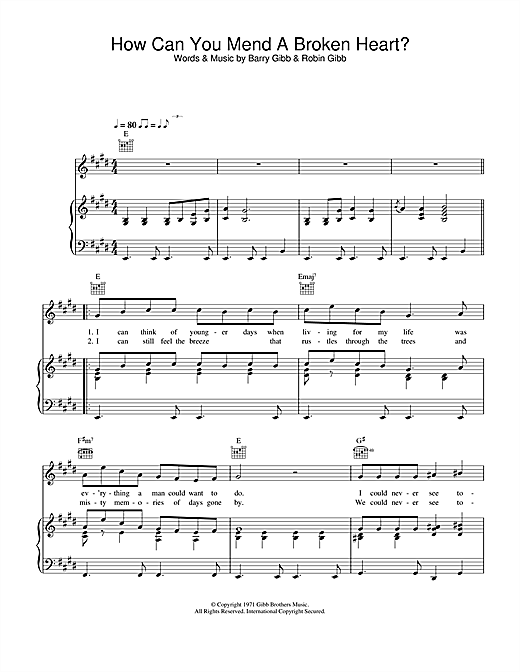 Al Green How Can You Mend A Broken Heart? sheet music notes and chords. Download Printable PDF.