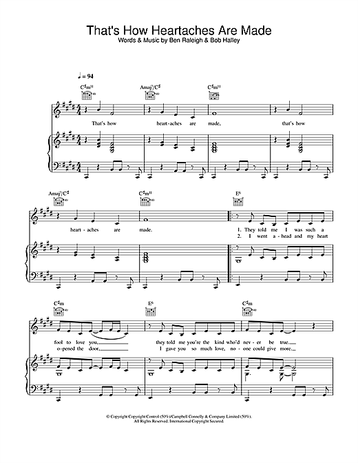 Baby Washington That's How Heartaches Are Made sheet music notes and chords. Download Printable PDF.