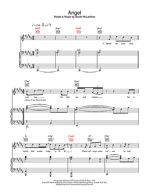 Westlife Angel sheet music notes and chords. Download Printable PDF.